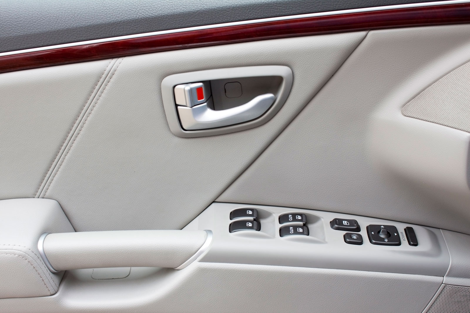 image of buttons on car door
